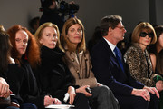 Grace Coddington (L), Virginia Smith (C) and Anna Wintour attend the Proenza Schouler fashion show during Fall 2016 New York Fashion Week at the Whitney Museum on February 17, 2016 in New York City.