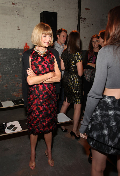 Vogue editor-in-chief Anna Wintour attends the Proenza Schouler Spring 2011 fashion show during Mercedes-Benz Fashion Week at  on September 15, 2010 in New York City.