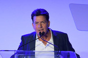 Charlie Sheen speaks during Project Angel Food's 2018 Angel Awards on August 18, 2018 in Hollywood, California.