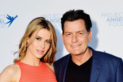 Julia Stambler and Charlie Sheen attend Project Angel Food's 23rd Annual Angel Art ART=LOVE Benefit Auction at NeueHouse Hollywood on June 23, 2018 in Los Angeles, California.