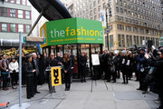 Andrea Wong, Tim Gunn, Michael Kors and Nina Garcia attend the Project Runway Avenue temporary street renaming at 39th Street and Seventh Avenue on January 13, 2010 in New York City.