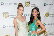 (L-R) Miss USA Olivia Jordan and Miss Universe Pia Wurtzbach attend Project Sunshine's 13th annual benefit celebration on May 05, 2016 in New York, New York.