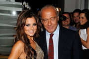 Cheryl Cole (L) and Fawaz Gruosi attend the launch party for 'Promise', a new capsule ring collection created by Cheryl Cole and de Grisogono, at Nobu London on September 29, 2010 in London, England.