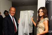 Fawaz Gruosi   (L) and Cheryl Cole attend the press launch for 'Promise', a new capsule ring collection created by Cheryl Cole and de Grisogono, at Nobu London on September 29, 2010 in London, England.