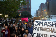 Protesters gather to demonstrate against Supreme Court Nominee Brett Kavanaugh in Union Square on October 6, 2018 in New York City. Kavanaugh was confirmed today by the Senate with a vote of 50-48.