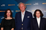 """(L-R) Executive Producer Margaret Bodde, Vanity Fair Editor Graydon Carter and author Fran Lebowitz attend a screening of """"Public Speaking"""" at The Museum of Modern Art on November 15, 2010 in New York City."""