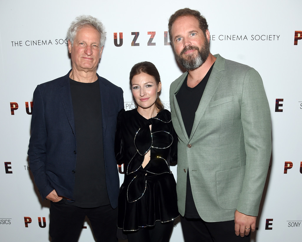 Turtletaub, Macdonald, and Denman at the Puzzle New York Screening on July 24, 2018. (Getty)