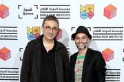 Acclaimed Turkish filmmaker Nuri Bilge Ceylan and  Doha Film Institute Senior Programmer Chadi Zeneddine attend a screening of 'Once Upon a Time in Anatolia' in his role as Qumra Master in Doha on day 2 of Qumra, an industry event by the Doha Film Institute dedicated to the development of emerging filmmakers on March 5, 2016 in Doha, Qatar.