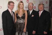 """Mike George, President and CEO of QVC Inc., Ivanka Trump, Joe Moore, President and CEO of FFANY and Ronald Fromm, Chairman and CEO of Brown Shoe Co. attend """"FFANY Shoes on Sale"""" Benefit for Breast Cancer Research and Education, presented by QVC at Frederick P. Rose Hall, Jazz at Lincoln Center on October 13, 2010 in New York, New York."""