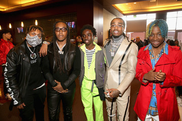 Quavo Pinkberry Backstage at Nickelodeon's 2019 Kids' Choice
