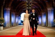 (L-R) Princess Mary of Denmark and Prince Frederik of Denmark arrive to attend a dinner hosted by Queen Beatrix of The Netherlands ahead of her abdication at Rijksmuseum on April 29, 2013 in Amsterdam, Netherlands.