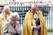The Queen And The Duchess Of Cornwall Attend A Service Marking  The 750th Anniversary Of Westminster Abbey