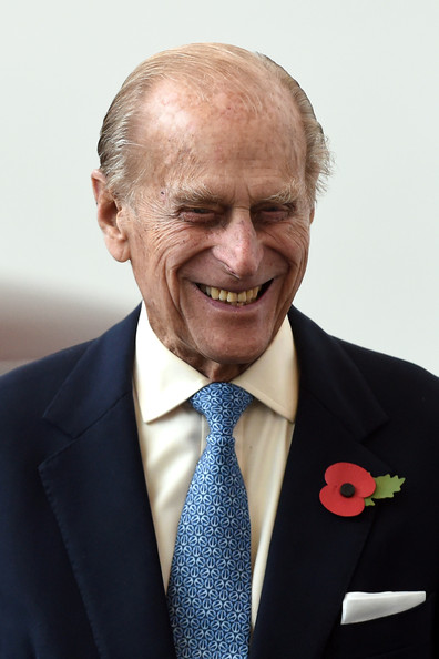 Prince Philip, Duke of Edinburgh visits the new Jaguar Land Rover Engine Manufacturing Centre in Wolverhampton to officially open the plant, on October 30, 2014 in Wolverhampton.