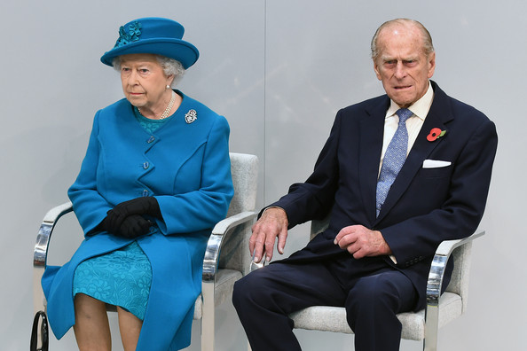 Queen Elizabeth II and Prince Philip, Duke of Edinburgh visit the new Jaguar Land Rover Engine Manufacturing Centre in Wolverhampton to officially open the plant, on October 30, 2014 in Wolverhampton.
