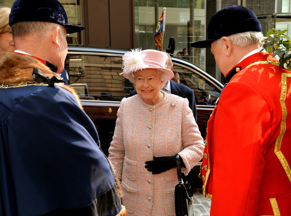 Queen Elizabeth II greets people during a reception at Waterman's Hall in the City of London, to celebrate the 800th anniversary of the Royal Watermen on March 27, 2014 in London, England.