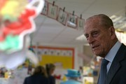 Britain's Prince Philip, Duke of Edinburgh tours the classrooms at Mayflower Primary School during a visit with Britain's Queen Elizabeth II (not pictured) to Poplar in Tower Hamlets in East London on June 15, 2017, as part of commemorations to mark the centenary of the bombing of Upper North Street School during the First World War..Mayflower Primary School now exists on the site of the Upper North Street School. / AFP PHOTO / POOL / Daniel LEAL-OLIVAS