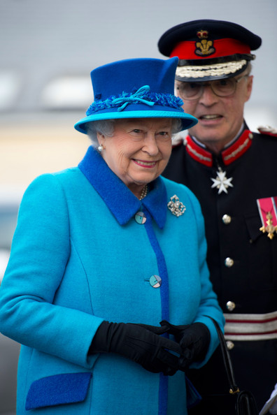 Queen Elizabeth II smiles during an official visit to Cotts Farm Equine Hospital, Narbeth on April 29, 2014 in Narbeth, Wales. The Cotts Equine Hospital is a purpose-built facility offering veterinary equine care.