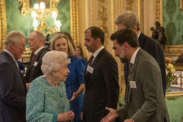 Queen Elizabeth II The Queen Hosts Reception To Mark The Global Investment Summit