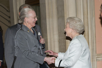 Queen Margrethe Queen Elizabeth II Accompanied By The Duke Of Edinburgh Holds A Lunch For Sovereign Monarchs