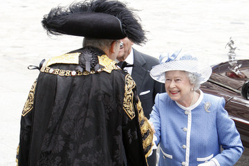 Michael Bear Queen Elizabeth II Attends 300th Anniversary Service At St Paul's Cathedral
