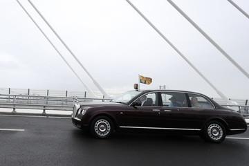 Queen Elizabeth II The Queen Opens Queensferry Crossing Over the Forth