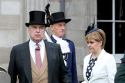 Prince Andrew, Duke of York and First Minister Nicola Sturgeon attend the annual garden party at the Palace of Holyroodhouse on July 4, 2017  in Edinburgh, Scotland.