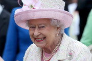 Queen Elizabeth II attends the annual garden party at the Palace of Holyroodhouse on July 4, 2017  in Edinburgh, Scotland.