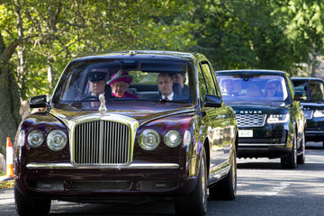 Queen Elizabeth II Prince William Royal Family Members Attend Crathie Kirk Church