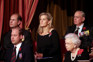 Queen Elizabeth II Prince William The Queen And Members Of The Royal Family Attend The Royal British Legion Festival Of Remembrance