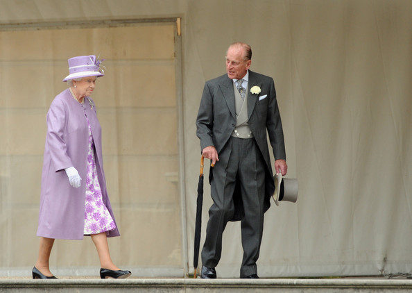 Queen Elizabeth II Queen Elizabeth II and Prince Philip, Duke of Edinburgh attend a garden party at Buckingham Palace on May 29, 2012 in London, England.