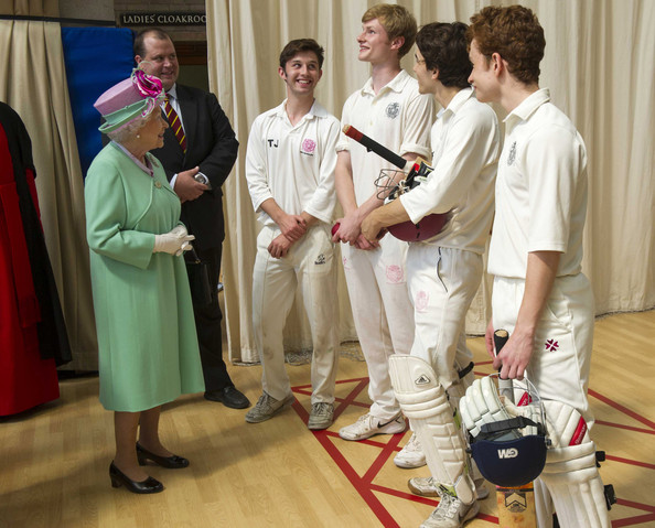 Queen Elizabeth II Opens New Sports Centre