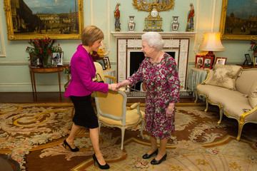 Queen Elizabeth II Nicola Sturgeon Attends First Audience