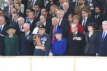 Queen Elizabeth II Theresa May Dedication and Unveiling of the Iraq and Afghanistan Memorial