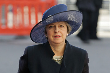 Queen Elizabeth II Theresa May Commonwealth Day Service & Reception