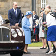 Queen Elizabeth II The Queen And The Duke Of Cambridge Attend The Ceremony of the Keys At The Palace of Holyroodhouse