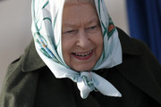 Queen Elizabeth II reacts during her visit to Wolferton Pumping Station, where she officially opened the new station, on February 5, 2020 in Wolferton, Norfolk, England.  Wolferton Pumping Station allows the surrounding 7,000 acres of marshland, which sits below sea level, to be drained, dried out and farmed. The Queen's father, King George VI, opened the original station on February 2, 1948.
