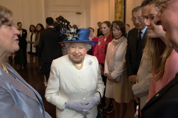 Queen Elizabeth II The Queen and the Duke of Edinburgh visit Canada House to celebrate Canada's 150th anniversary of Confederation