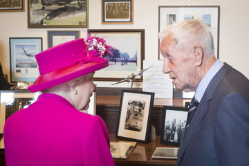 Queen Elizabeth II Queen Elizabeth II Visits The Royal Auxiliary Air Force in Scotland