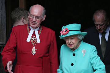 Queen Elizabeth II The Royal Family Attend Easter Day Service in Windsor
