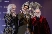 (L to R) Brian May of Queen, Adam Lambert and Roger Taylor of Queen attend the press conference ahead of the Rhapsody Tour at Conrad Hotel on January 16, 2020 in Seoul, South Korea. The band Queen is in Seoul for their Asian leg of 'Rhapsody' tour, and is scheduled to perform on January 16 and 18 joined by Adam Lambert.