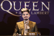 Adam Lambert attends the press conference ahead of the Rhapsody Tour at Conrad Hotel on January 16, 2020 in Seoul, South Korea. The band Queen is in Seoul for their Asian leg of 'Rhapsody' tour, and is scheduled to perform on January 16 and 18 joined by Adam Lambert.