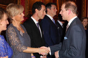 Prince Edward, Earl of Wessex meets television presenter Alice Beer during a reception to celebrate the patronages & affiliations of the Earl and Countess of Wessex hosted by Queen Elizabeth II at Buckingham Palace on February 10, 2015 in London, England