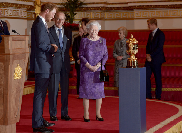 The Queen Hosts Reception to Mark the Rugby World Cup 2015