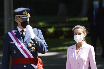 Queen Letizia of Spain King Felipe VI of Spain Spanish Royals Attend Armed Forces Day