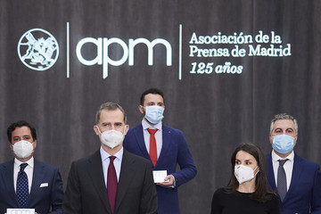 Queen Letizia of Spain King Felipe VI of Spain Spanish Royals Attend APM Journalism Awards 2020 and 2021