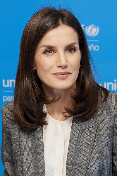 Queen Letizia Of Spain Attends UNICEF Meeting