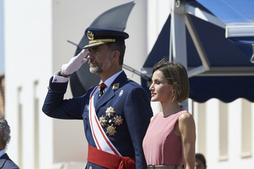 Queen Letizia of Spain Spanish Royals Attend a Military Event in Murcia