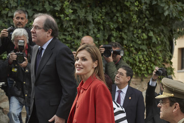 Queen Letizia of Spain Queen Letizia of Spain Visitis Artillery Military Academy in Segovia