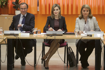 Queen Letizia of Spain Queen Letizia Visits the ONCE Education Resource Center