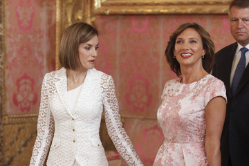 Queen Letizia of Spain Spanish Royals Host a Lunch For President of Romania